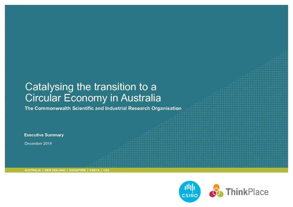 Catalysing the transition to a Circular Economy in Australia